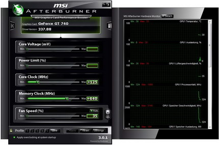 Overclocking mit MSI Afterburner