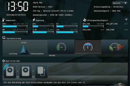 Die Overclockingoptionen des UEFI