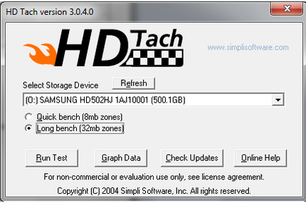 HD Tach - Long bench.